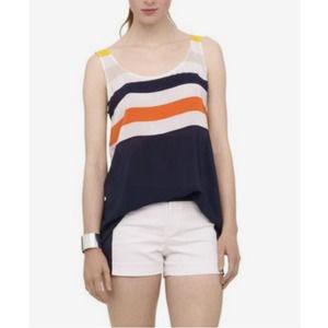 Club Monaco Eloise Sleeveless Silk Tunic Tank